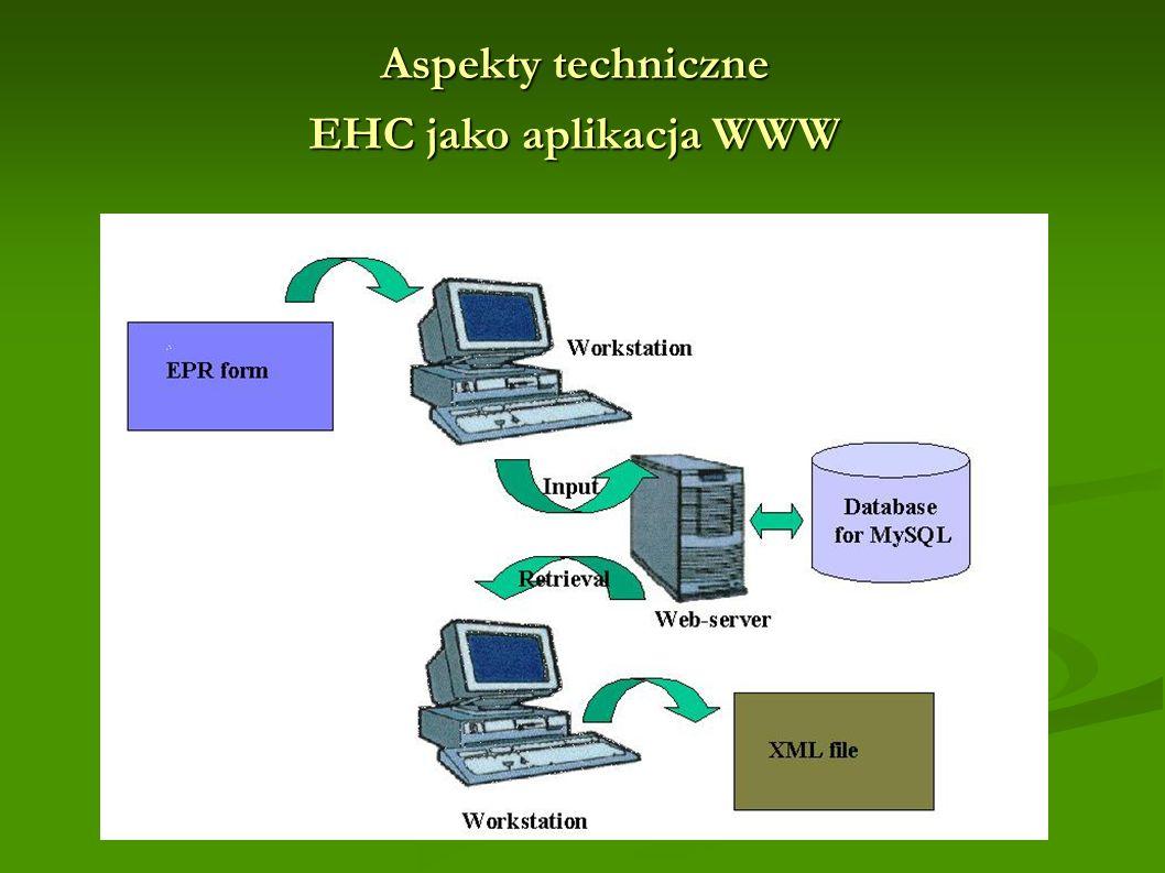 Aspekty techniczne EHC jako aplikacja WWW