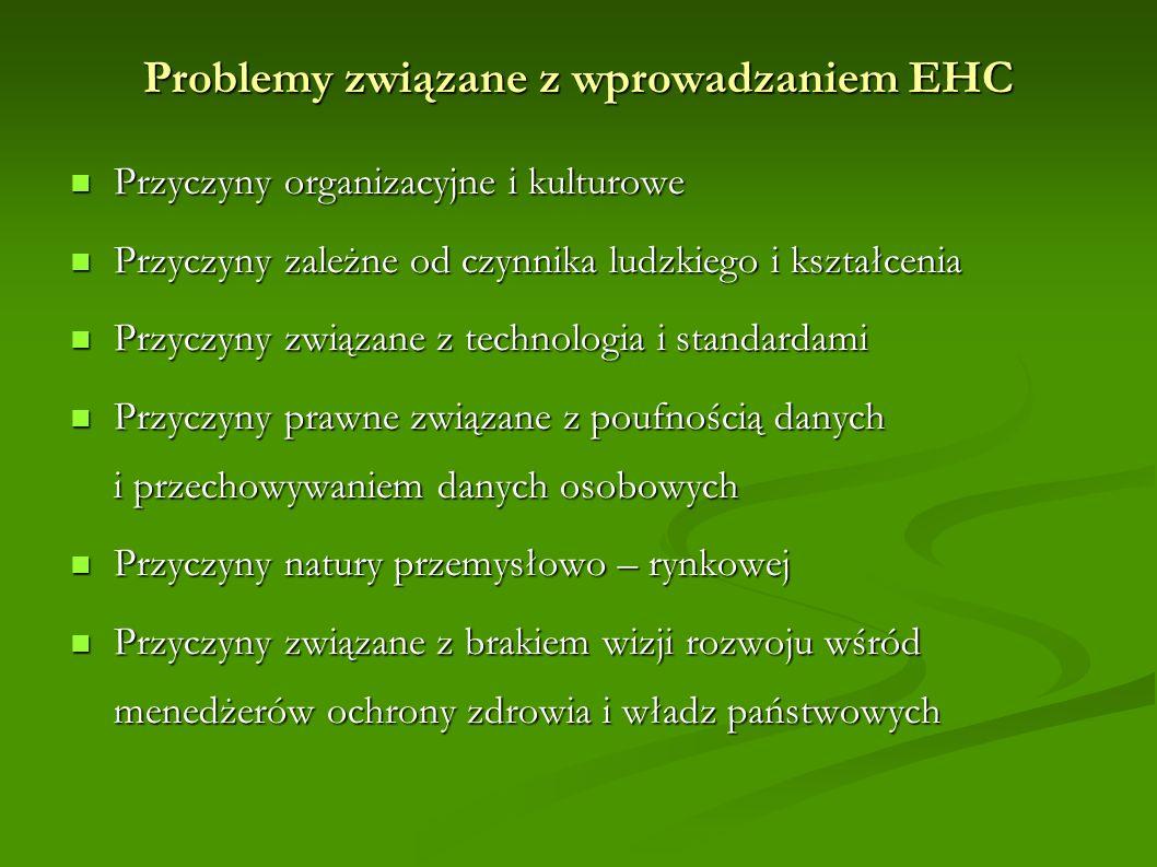 Problemy związane z wprowadzaniem EHC