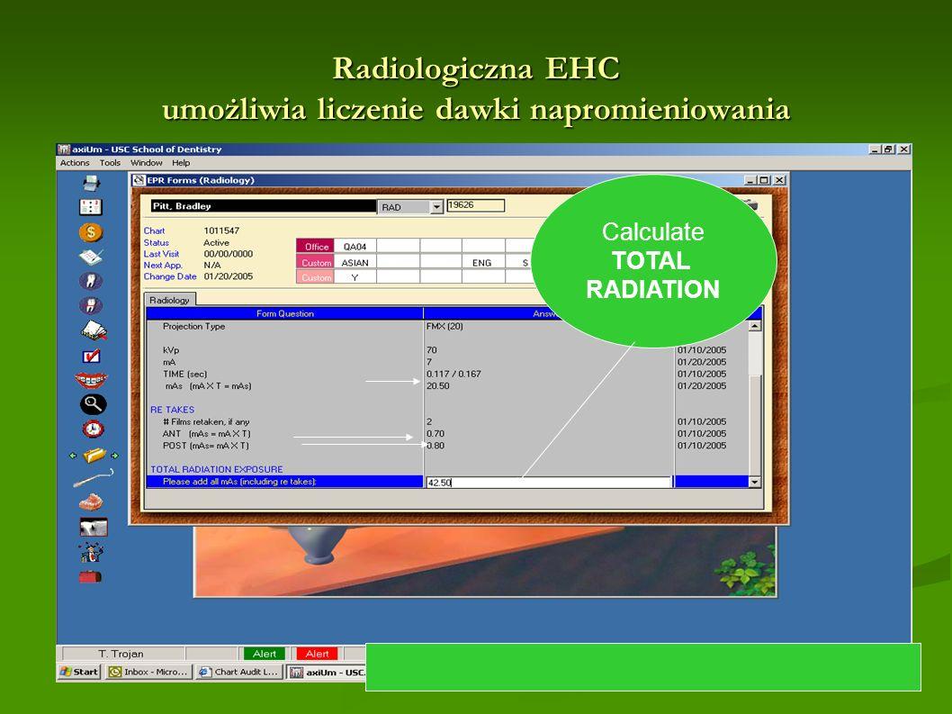 Radiologiczna EHC umożliwia liczenie dawki napromieniowania