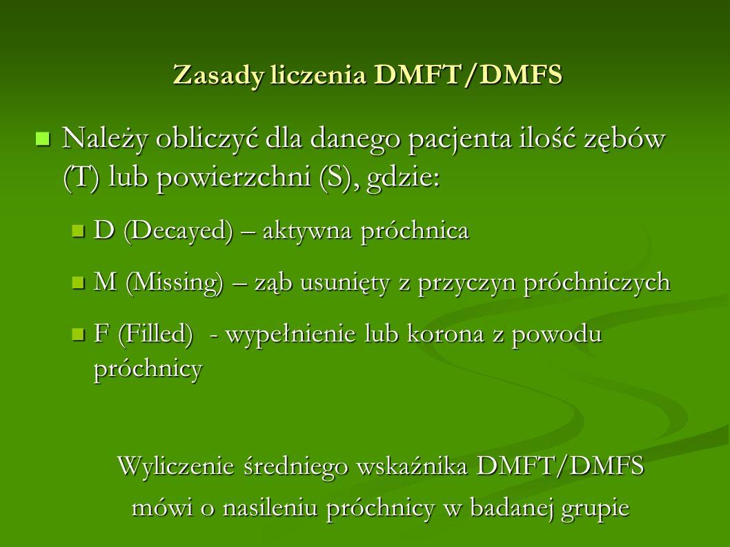 Zasady liczenia DMFT/DMFS