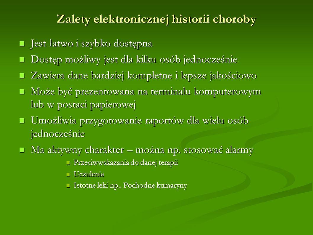 Zalety elektronicznej historii choroby