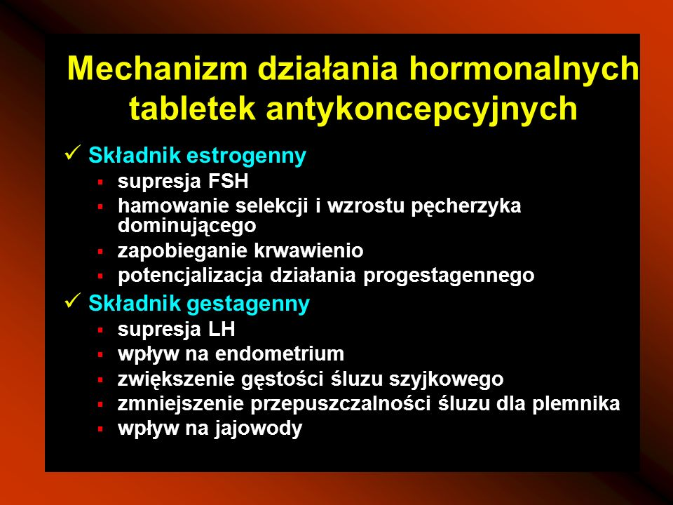 Mechanizm działania hormonalnych tabletek antykoncepcyjnych