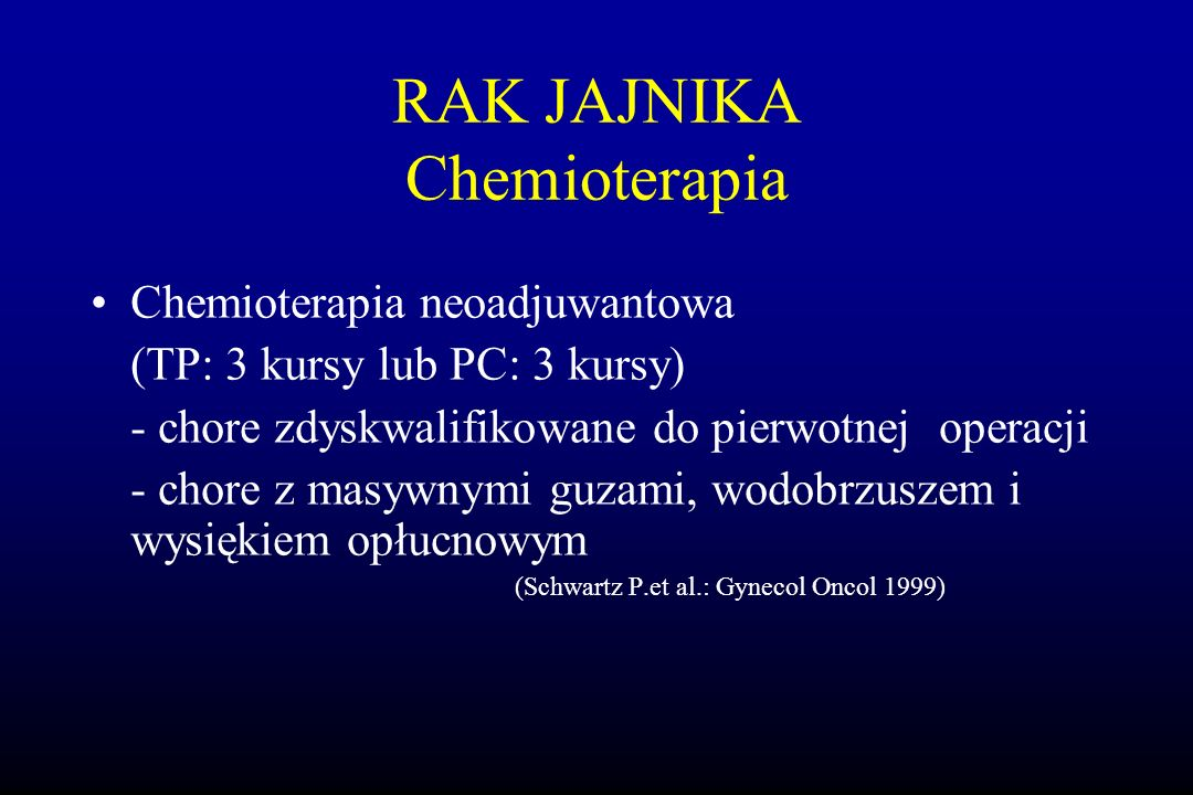 RAK JAJNIKA Chemioterapia