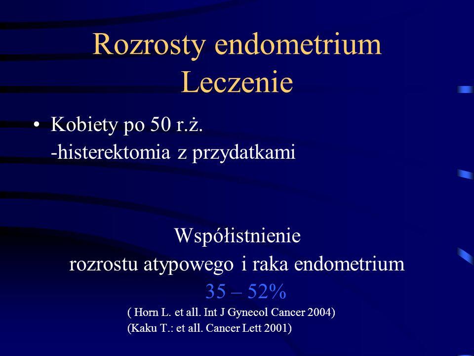Rozrosty endometrium Leczenie