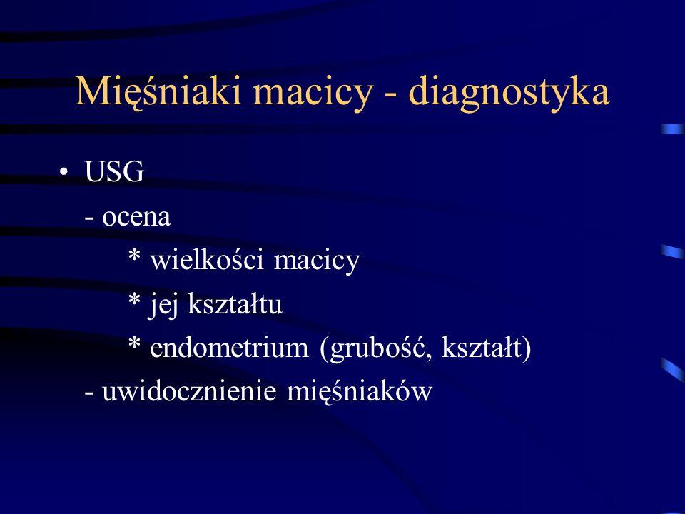 Mięśniaki macicy - diagnostyka