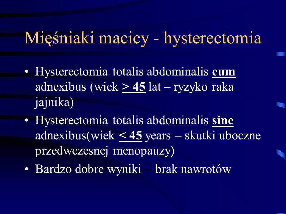 Mięśniaki macicy - hysterectomia