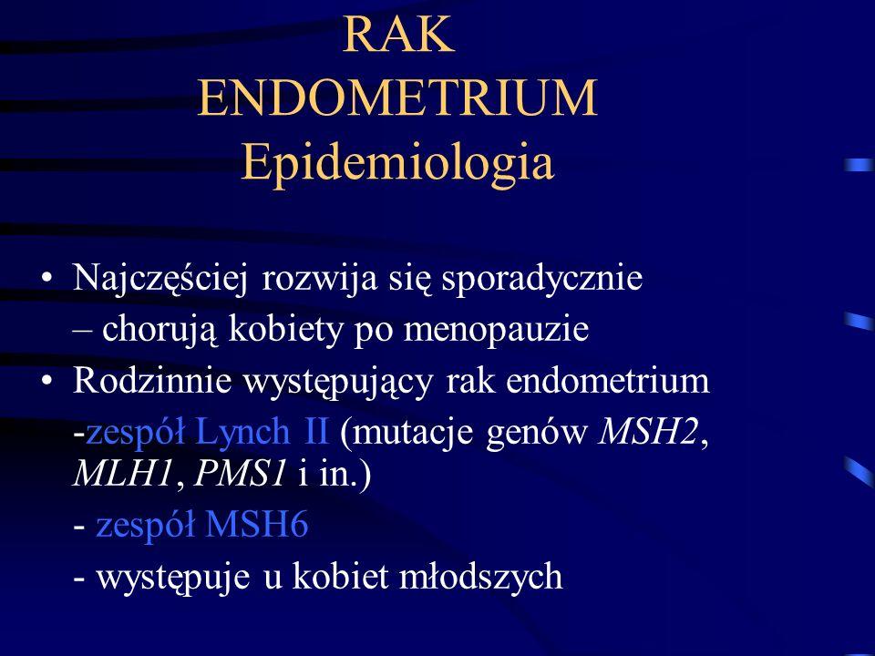 RAK ENDOMETRIUM Epidemiologia