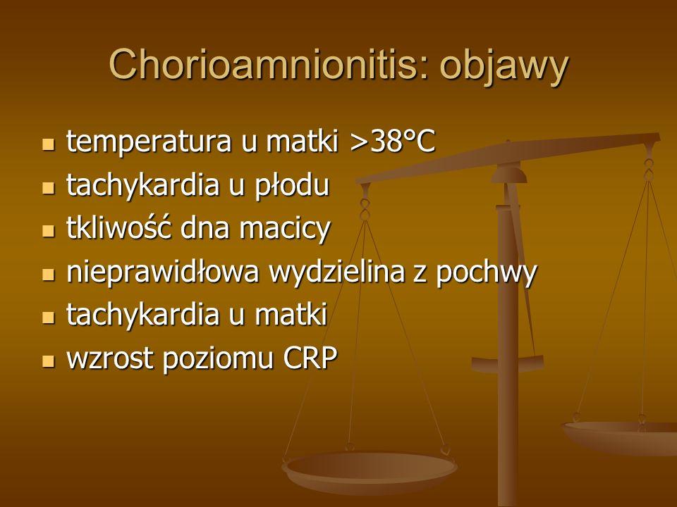 Chorioamnionitis: objawy