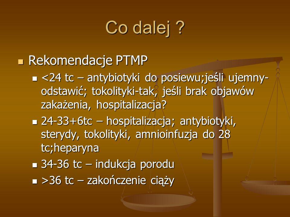 Co dalej Rekomendacje PTMP