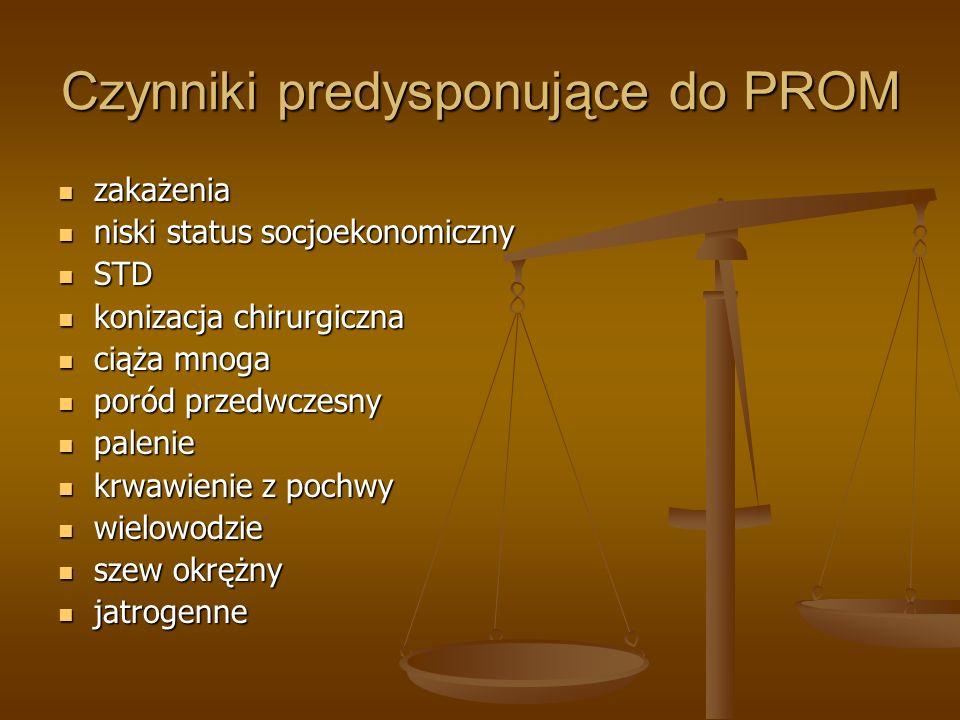Czynniki predysponujące do PROM