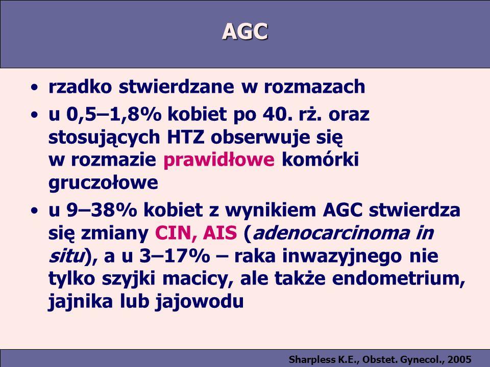 AGC rzadko stwierdzane w rozmazach