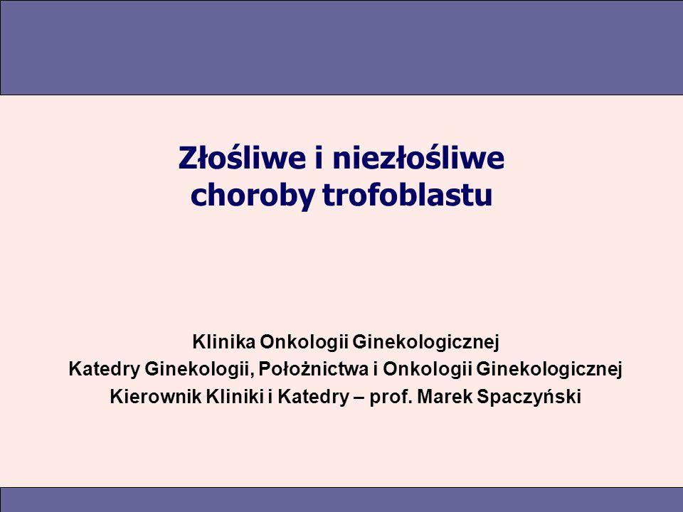 Złośliwe i niezłośliwe choroby trofoblastu