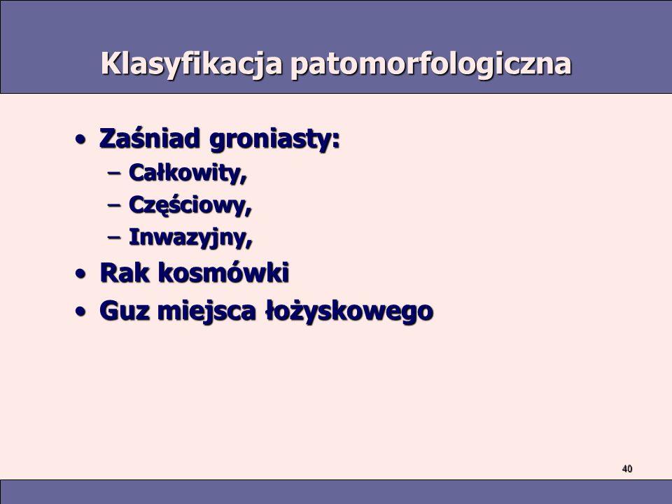 Klasyfikacja patomorfologiczna