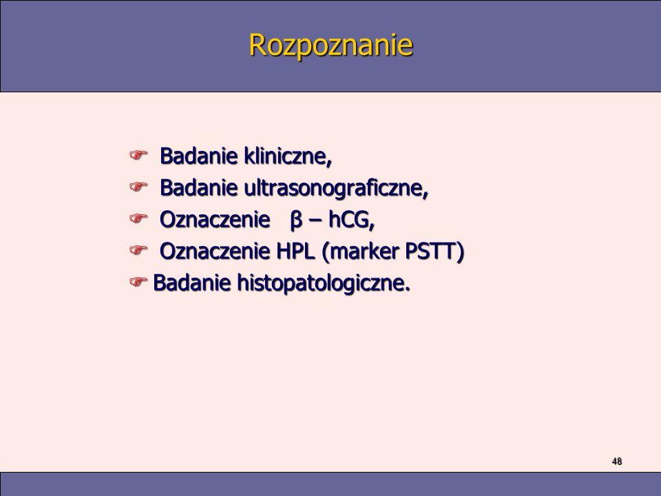 Rozpoznanie Badanie kliniczne, Badanie ultrasonograficzne,