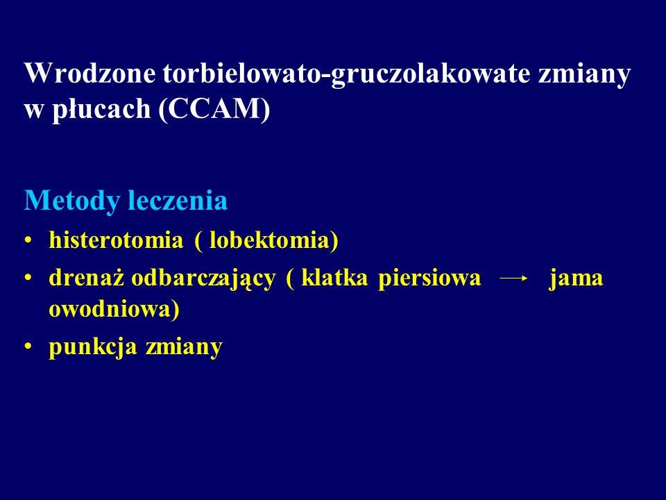 Wrodzone torbielowato-gruczolakowate zmiany w płucach (CCAM)