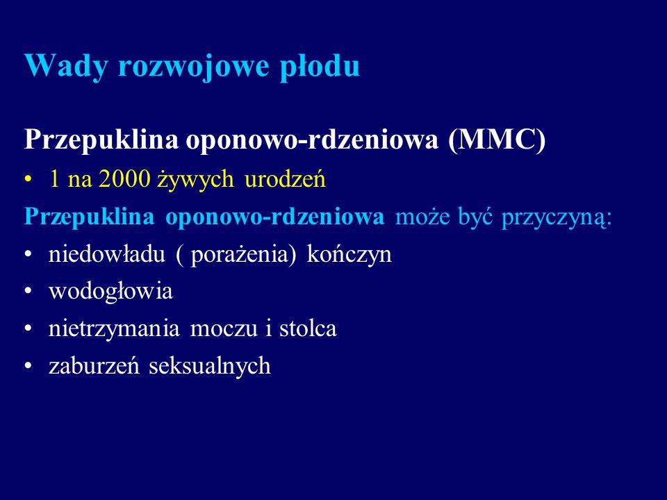 Wady rozwojowe płodu Przepuklina oponowo-rdzeniowa (MMC)