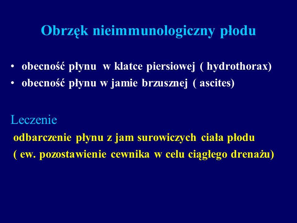 Obrzęk nieimmunologiczny płodu