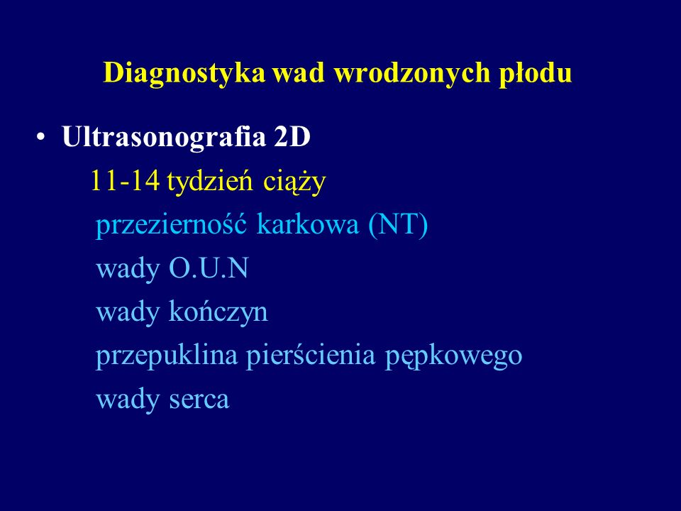 Diagnostyka wad wrodzonych płodu