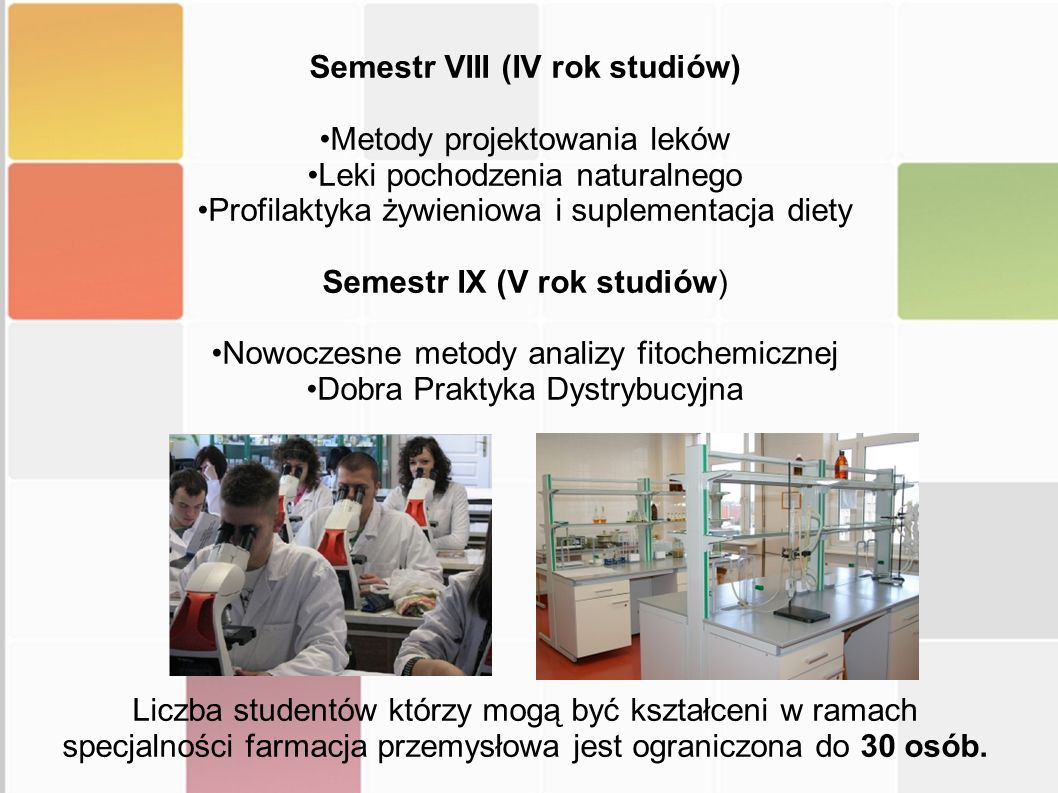 Semestr VIII (IV rok studiów)