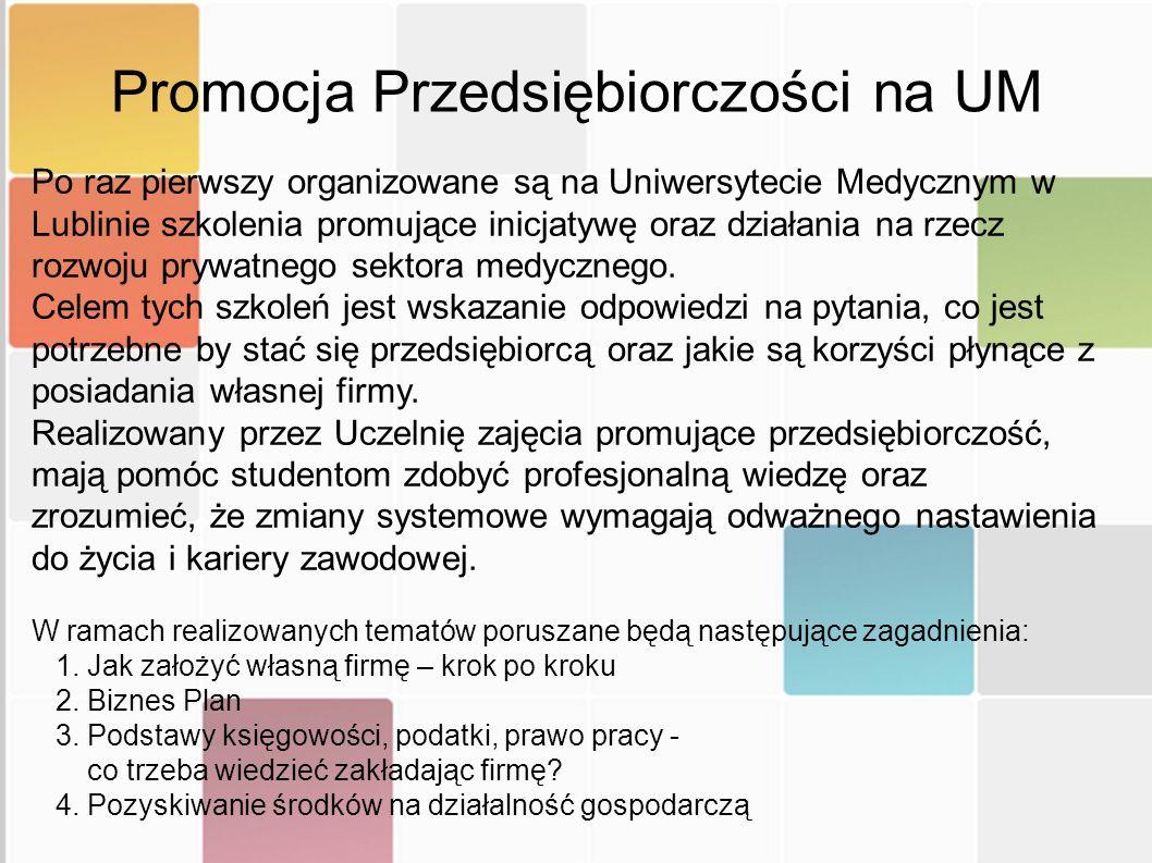 Promocja Przedsiębiorczości na UM