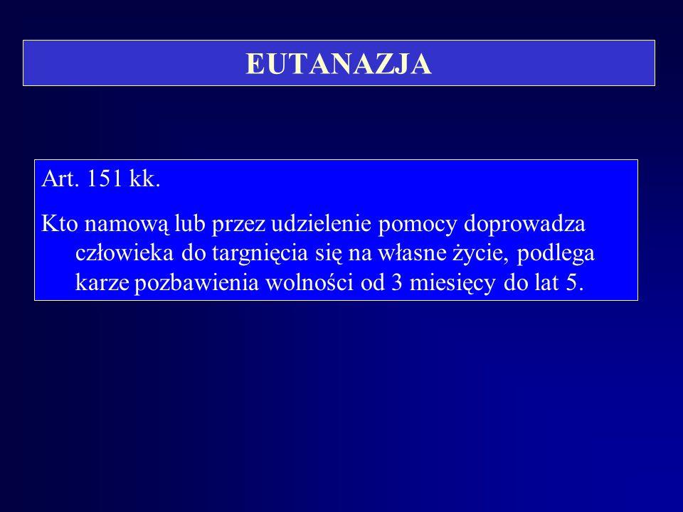 EUTANAZJA Art. 151 kk.