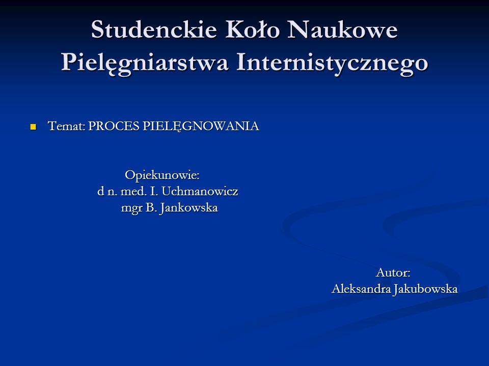 Studenckie Koło Naukowe Pielęgniarstwa Internistycznego