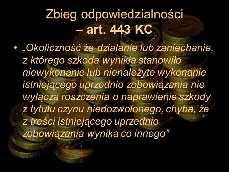 Zbieg odpowiedzialności – art. 443 KC