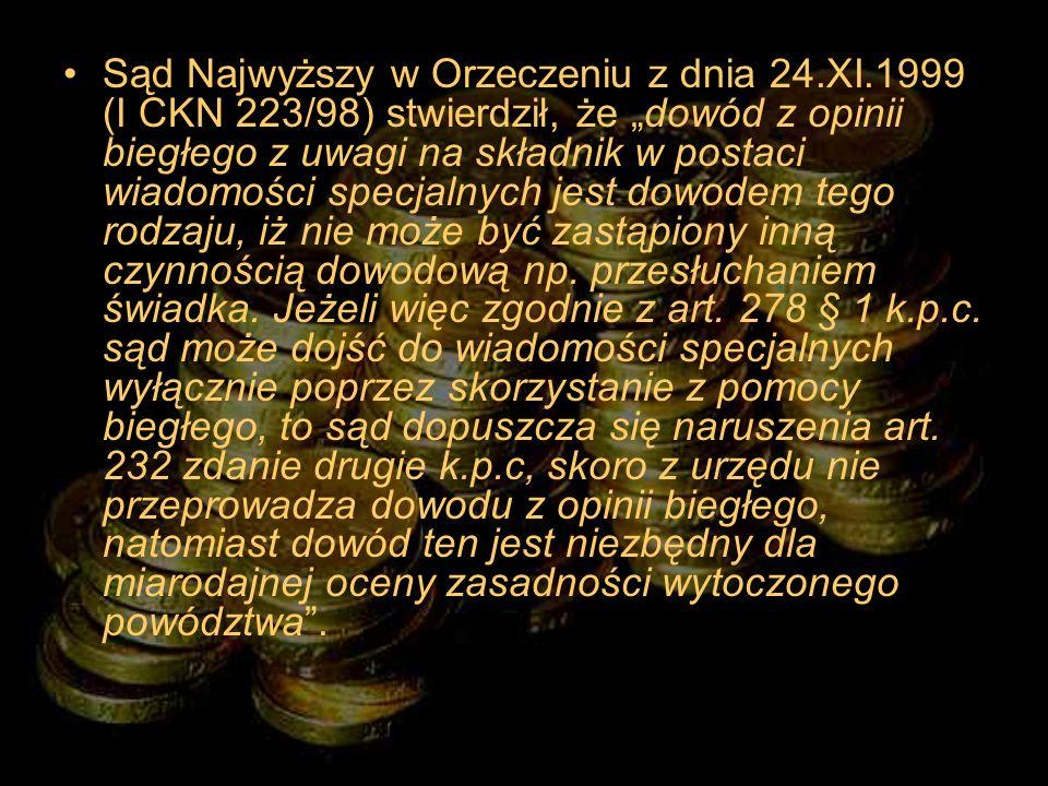 Sąd Najwyższy w Orzeczeniu z dnia 24. XI