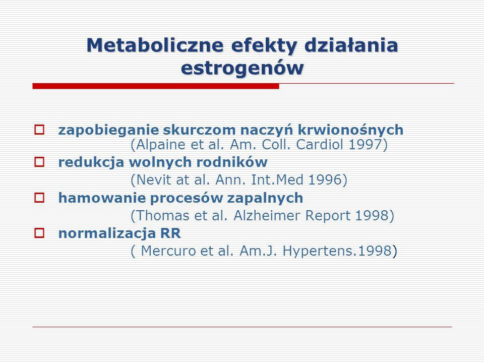 Metaboliczne efekty działania estrogenów