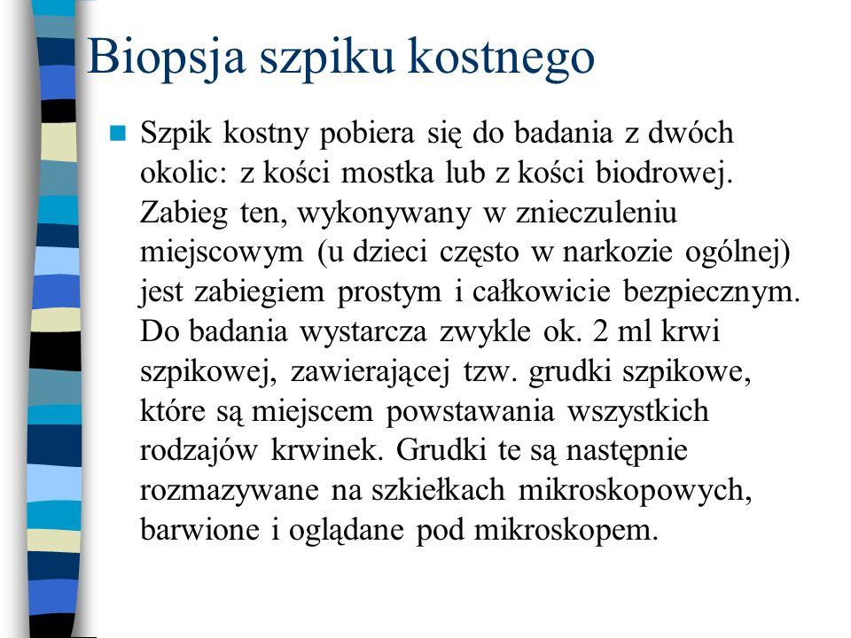 Biopsja szpiku kostnego