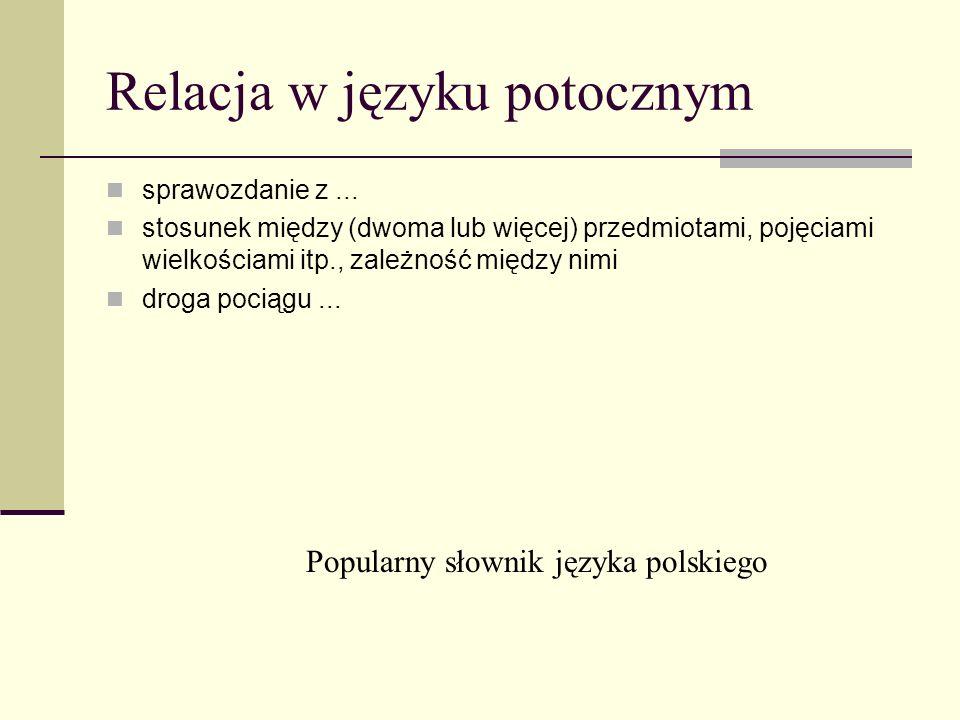 Relacja w języku potocznym