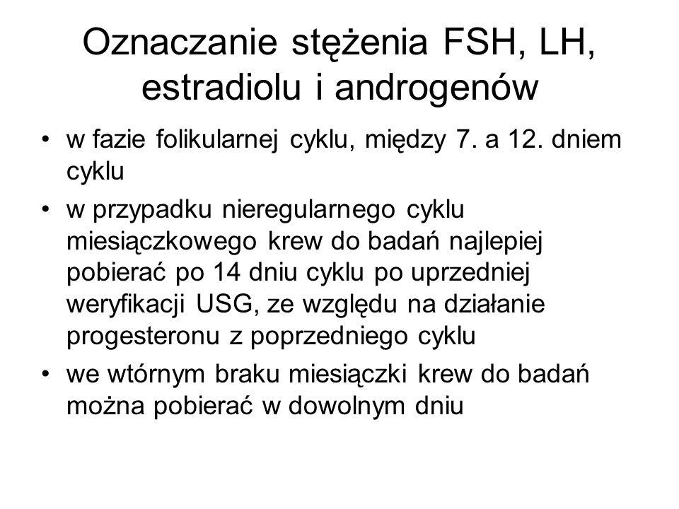 Oznaczanie stężenia FSH, LH, estradiolu i androgenów