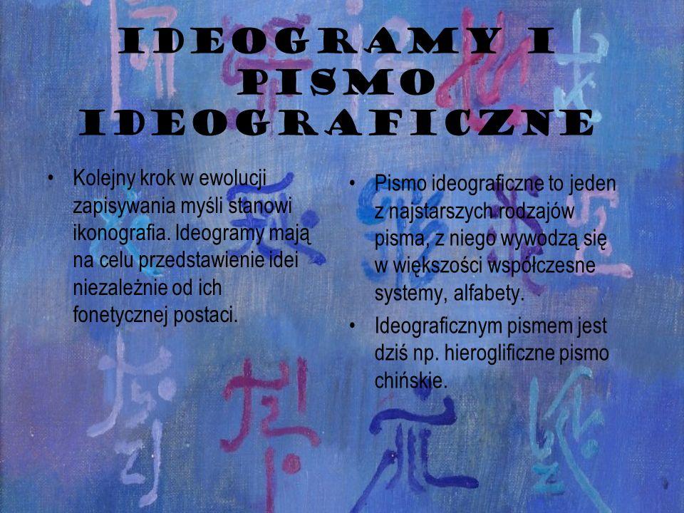 IDEOGRAMY I PISMO IDEOGRAFICZNE