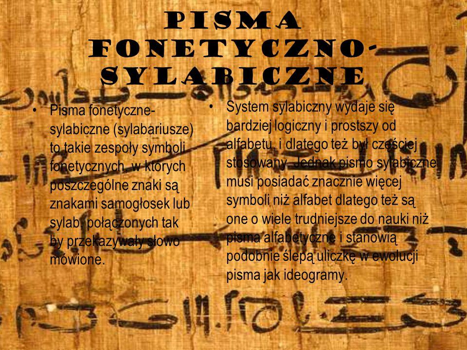 PISMA FONETYCZNO-SYLABICZNE