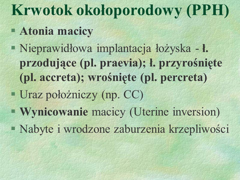 Krwotok okołoporodowy (PPH)