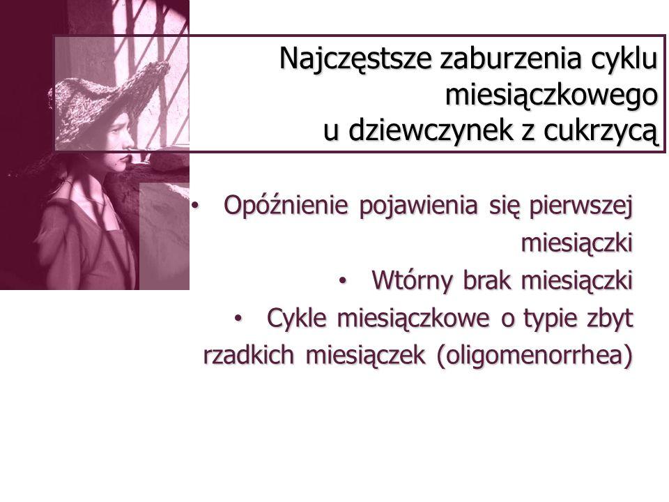 Najczęstsze zaburzenia cyklu miesiączkowego u dziewczynek z cukrzycą