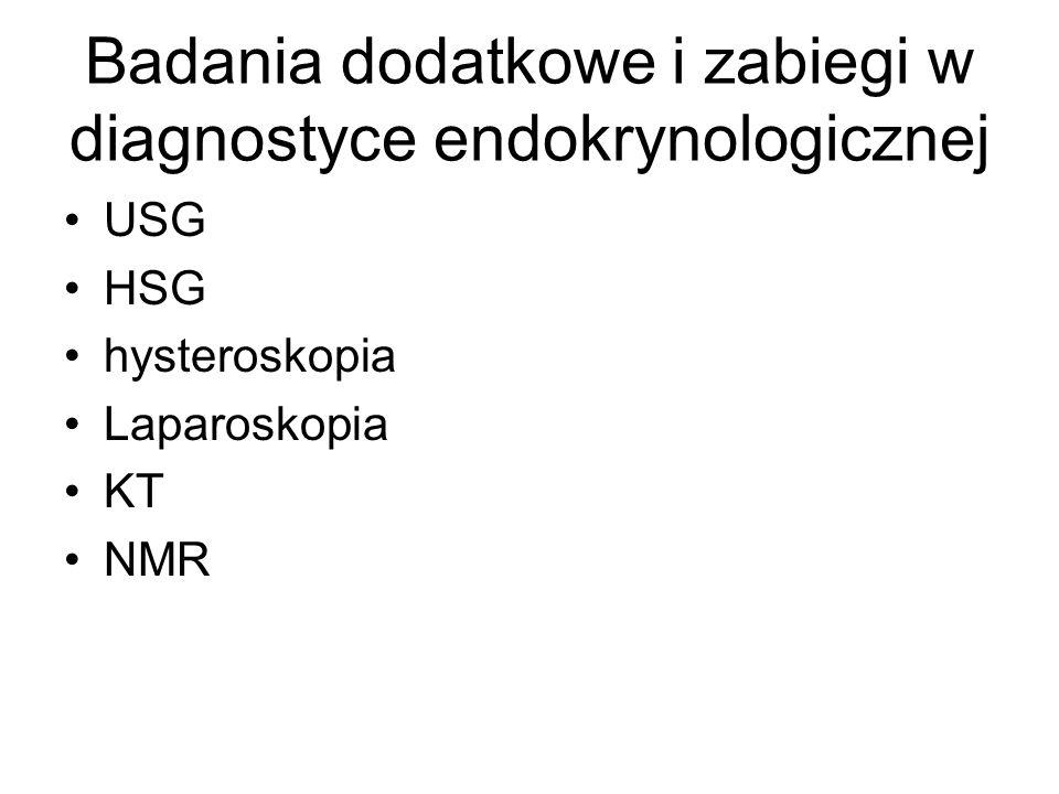 Badania dodatkowe i zabiegi w diagnostyce endokrynologicznej