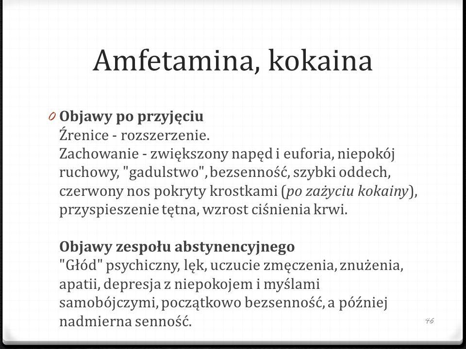 Amfetamina, kokaina