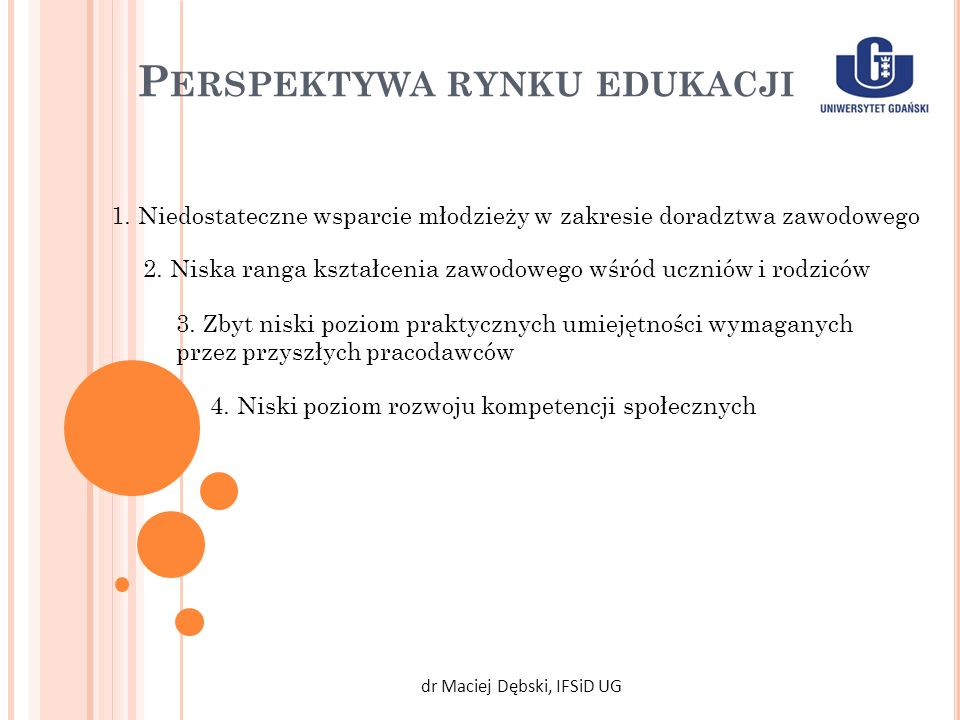 Perspektywa rynku edukacji