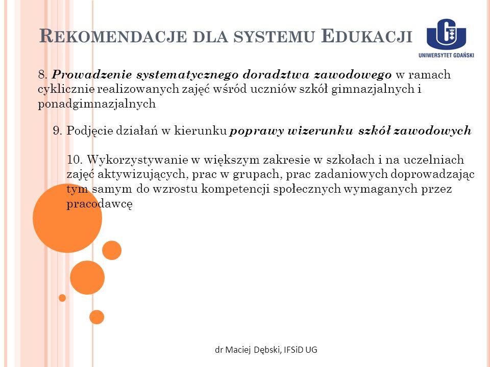 Rekomendacje dla systemu Edukacji