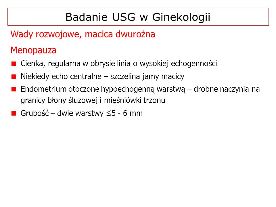 Badanie USG w Ginekologii
