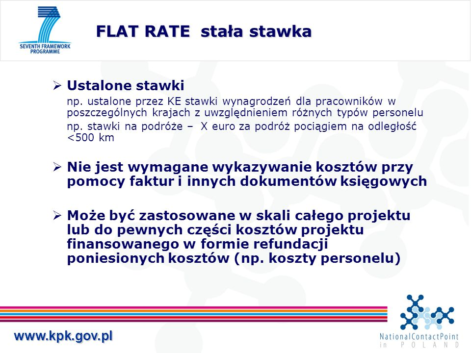 FLAT RATE stała stawka Ustalone stawki