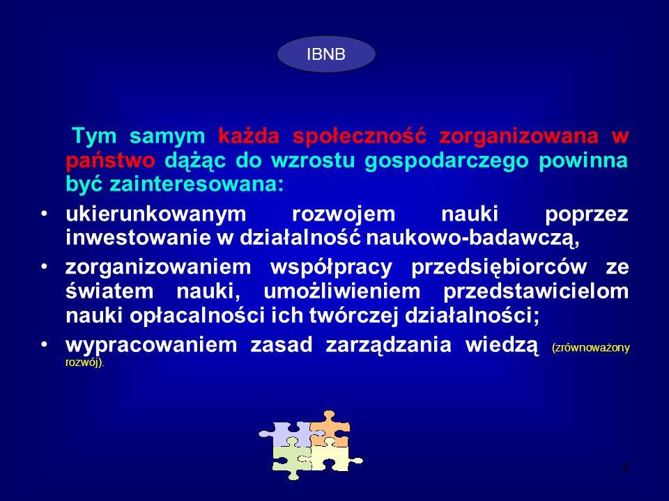 wypracowaniem zasad zarządzania wiedzą (zrównoważony rozwój).