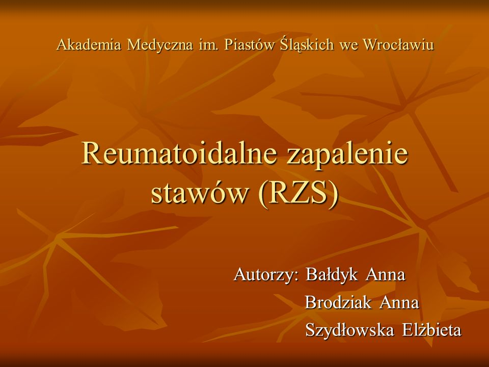Autorzy: Bałdyk Anna Brodziak Anna Szydłowska Elżbieta