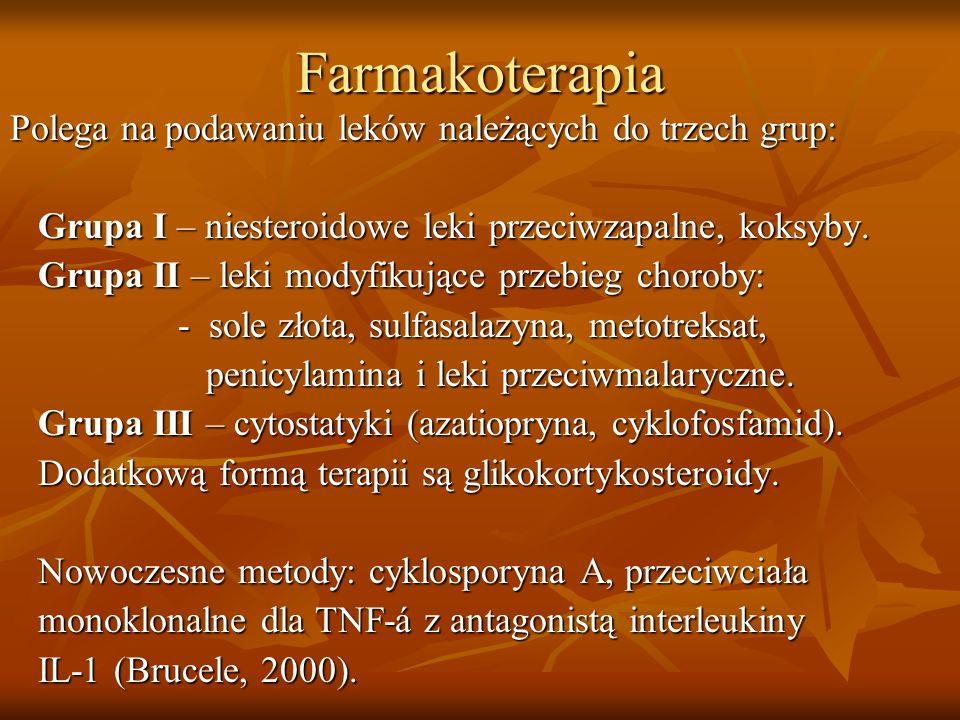 Farmakoterapia Polega na podawaniu leków należących do trzech grup: