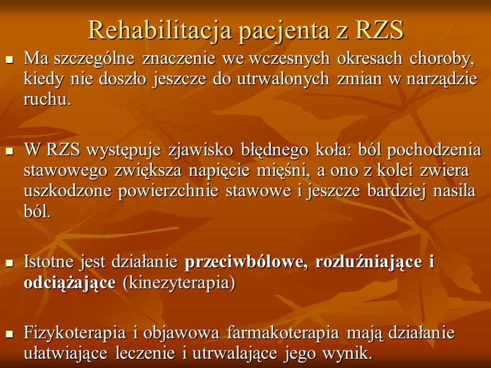Rehabilitacja pacjenta z RZS