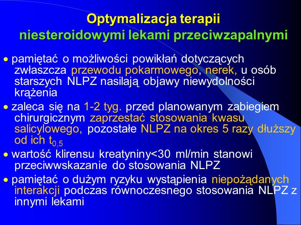 Optymalizacja terapii niesteroidowymi lekami przeciwzapalnymi