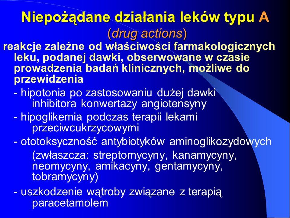 Niepożądane działania leków typu A (drug actions)
