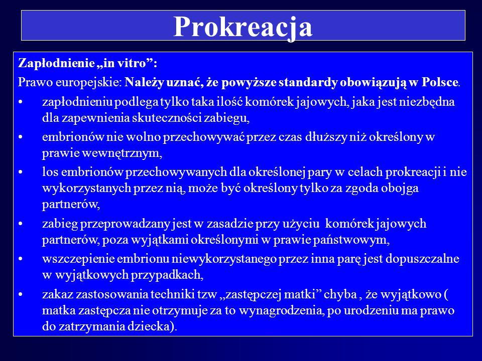 """Prokreacja Zapłodnienie """"in vitro :"""