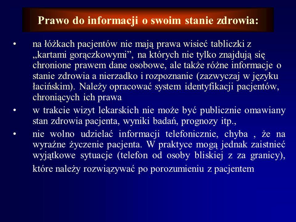 Prawo do informacji o swoim stanie zdrowia: